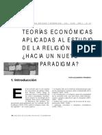 FRIGERIO a. - Teorias Ecocnomicas Aplicadas Al Estudio de La Religion