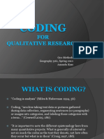 Coding for Qualitative Research