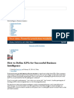 How to define KPIs