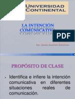 La Intencion Comunicativa