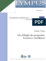 Olympus - Obblighi Progettisti Fornitori Installatori (Macchine e Attrez...