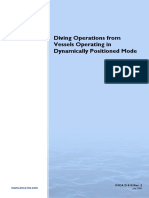 IMCA D 010 Diving Operations From Vessels Operating in Dynamically Positioned Mode
