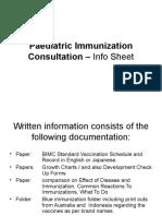 Paediatric Immunization Consultation