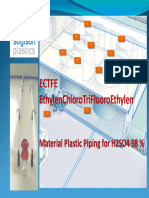 ECTFE Material Plastic Piping for H2SO4 98