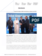 UAE Exchange India Bags the Prestigious Golden Peacock Business Excellence Award 2016