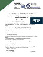 Buletin de Control Dimensional Si Vizual a Imbinarilor Sudate