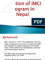Evolution of IMCI Program in Nepal