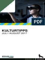 KulturTipps Juli-August 2017