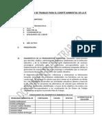 Propuesta Plan de Trabajo Para El Comité Ambiental de La Ie