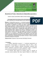 SANTOS, 2014. Biometria Em Frutos e Sementes de Adenanthera Pavonina L.