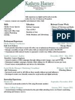 resume-kathryn harney