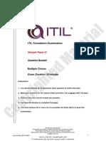 EN ITIL V3F Sample Paper D 2016 V2.0
