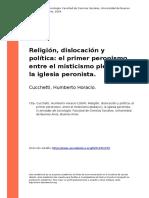 Cucchetti, Humberto Horacio (2004). Religion, Dislocacion y Politica El Primer Peronismo, Entre El Misticismo Plebeyo y La Iglesia Peronista