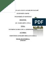 Administracion en Su Entorno Global