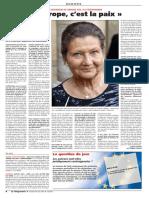 """Simone Veil. """"L'Europe, c'est la paix"""""""