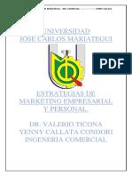 Estrategias de Marketing Empresariall y Personal --Yenny Callata Ing. Comercial