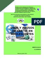 USOS Y ABUSOS DE LAS TIC EN ADOLESCENTES E INSTITUCIONES EDUCATIVAS.