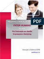 Fator Humano - Manual e Programa Integrados