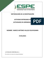 Metodologia de La Investigacion Activida