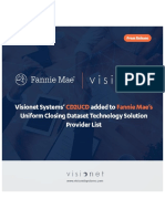 Visionet Systems' CD2UCD added to Fannie Mae's Uniform Closing Dataset Technology Solution Provider List