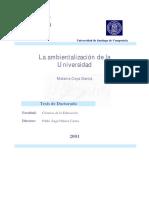 009. La Ambientalización de La Universidad