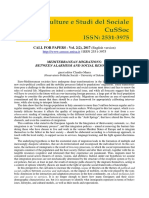 Call for Papers Vol. 2 (2)-2017 - CuSSoc