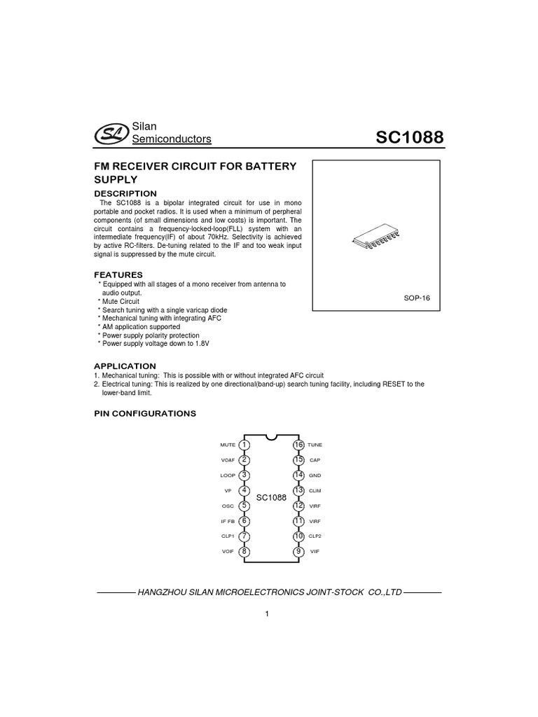 sc1088 1 pdf low pass filter amplifier rh scribd com Block Diagram Example Robot Diagram