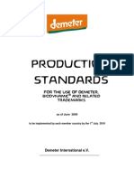 Demeter Biodynamic Production Standards