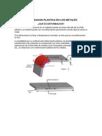 Deformacion Plastica en Los Metales