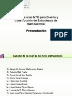 EXCELENTE Normas Tecnicas Complementarias Mamposteria Mayo 2014