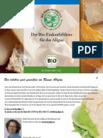 Der Bio-Einkaufsführer für das Allgäu 2010