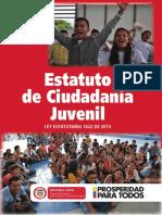 Estatuto de Ciudadania Juvenil Ley 1622 2013