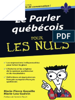Le Parler Québécois Pour Les Nuls - Marie-Pierre Gazaille