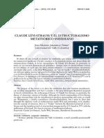 Claude  lévi-StrauSS  y el eStruCturaliSmo metateóriCo  Sneedeano
