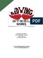 Red Wing Steel Works 3x5 Heavy Duty Welding Table Plans