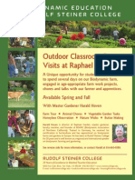 Outdoor Classroom Farm Visits at Raphael Biodynamic Garden