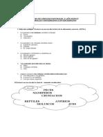 Prueba Ciencia Vertebrados e Invertebrados 2 Basico