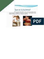 Dibujo La Bulimia