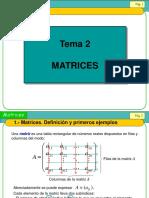 Clases de Matrices (2016)