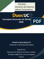 1- Conceptos Generales de Windows Server 2008