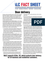 2015 Door Delivery Fact Sheet