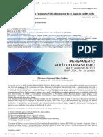 CRONOGRAMA - II Jornada Do Pensamento Político Brasileiro de 9 a 11 de Agosto No IESP-UERJ