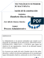 Unidad 1 Proceso Administrativo