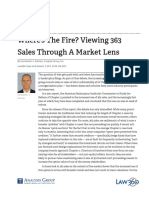Wheres the Fire? Viewing 363 Sales Through A Market Lens