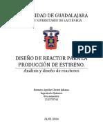 Diseño de Reactor Para La Producción de Estireno