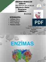 Diapositivas de Enzimas Estructura y Clasificación