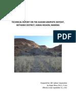 Aukam Graphite Deposit 2016 Technical Report (1)
