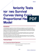 Non-Inferiority Tests for Two Survival Curves Using Cox's Proportional Hazards Model