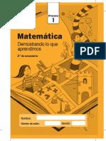 Cuadernillo Proceso1 Matematica 2do Grado