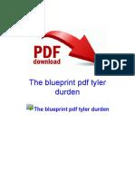The Blueprint PDF Tyler Durden